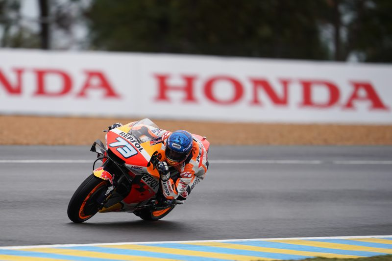 Alex Marquez quickly up to speed in damp Le Mans