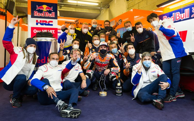 Storm the field! Alex Marquez conquers the wet for debut MotoGP podium