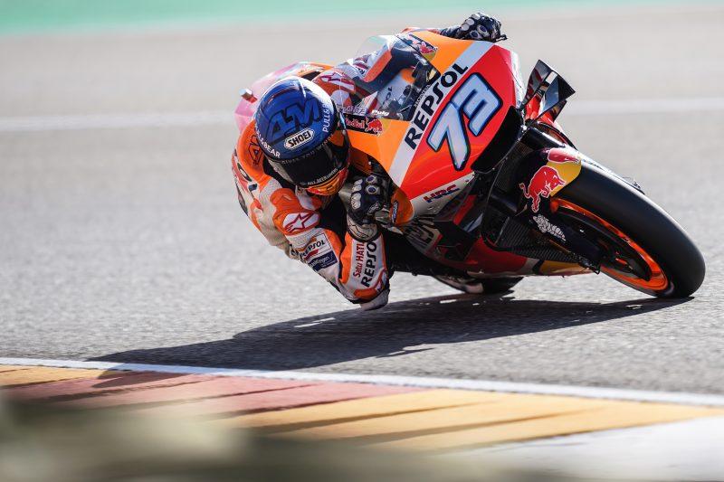 Alex Marquez heats up his pace at frigid Aragon