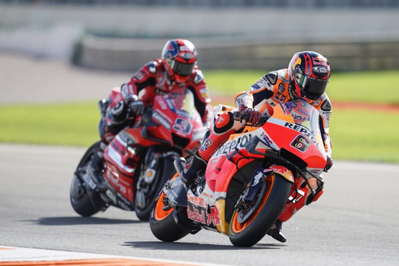 Bradl collects more points, Marquez falls while fighting
