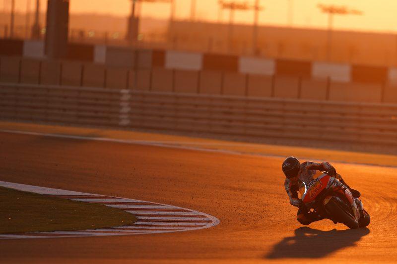 The Repsol Honda Team up their pace in Qatar