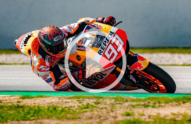Marc Marquez on track in Barcelona
