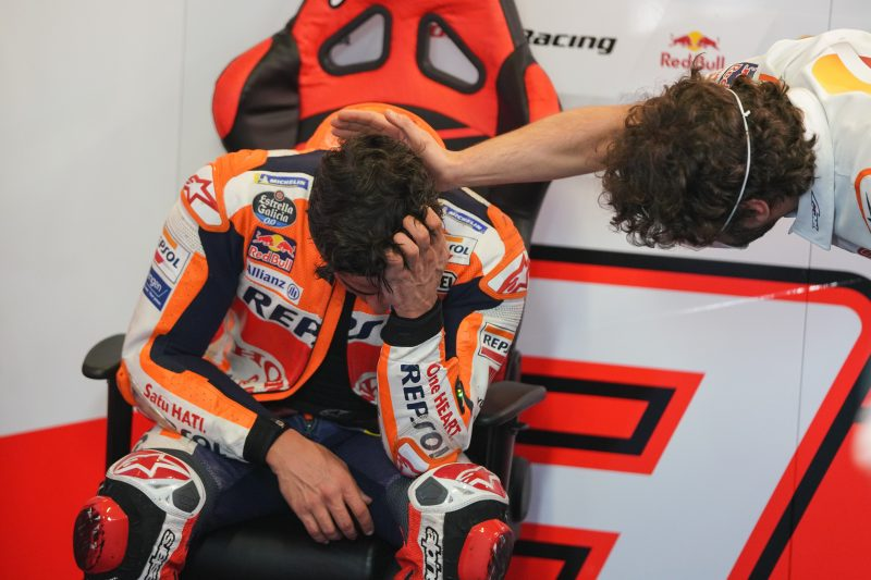 Heroic seventh for returning Marquez