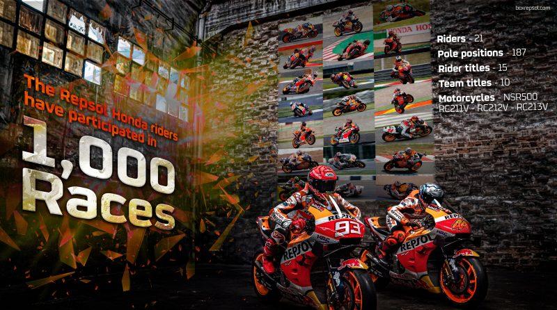 Repsol Honda Team riders set for 1000th Grand Prix start