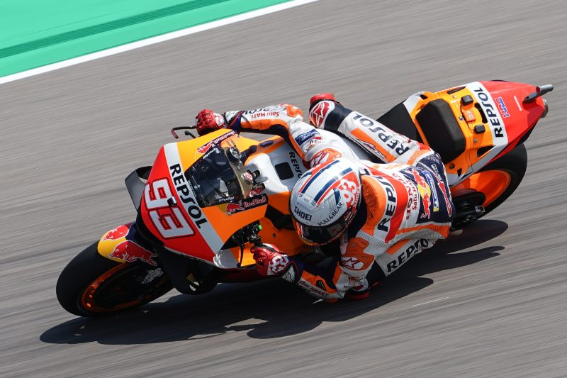 Second and third rows for Repsol Honda Team at the Sachsenring
