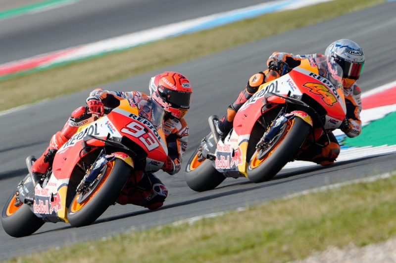 Espargaro shows his speed in Assen while Marquez walks away from heavy high side
