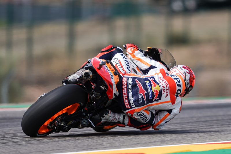 Marquez and Espargaro to launch Aragon GP challenge from second and third rows